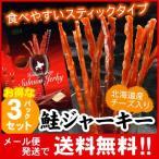 鲑鱼 - 「メール便 送料無料」北海道産 鮭ジャーキー(チーズ入) 35g×3パック入(代引不可・着日指定不可・同梱不可)