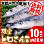 根室産秋刀魚合計10kg(約80尾前後入)生冷凍業務用商品(送料無料)