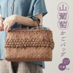 山葡萄 かごバッグと手紡ぎ綿糸を草木染し手織りした布の落とし込み巾着のセット/SHOKUの布 コースター2枚プレゼント中/SA-4734/3/籠