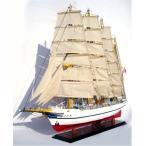 新日本丸 95cm 木製手作り/大型 帆船模型/完成品 代金引換不可/