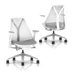 SAYL Chairセイルチェア ホワイトフレーム ミドルバック フェザーグレー HermanMiller ハーマンミラーAS1YA23HAN265-BB-98-63-1HA09
