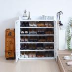 ショッピングシューズ ルーバーシューズボックス 幅75/外寸幅75.0×奥行33.0×高さ90.0cm/JKP-SGT-0102
