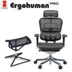 エルゴヒューマン プロ ハイタイプ オットマンセット エラストメリックメッシュブラック EHP-HAM-O-KM11 Ergohuman Pro