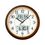 カシオ(CASIO) 壁掛け時計 濃茶木調 電波時計 ITM-800NJ-5JF
