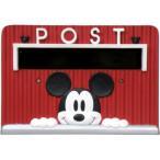 (同梱不可)セトクラフト カスタマイズポスト専用 デコプレート ミッキー SD-2221 赤 可愛い 郵便受け