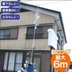 楽らく雪下ろし6m 雪庇落としプラス凍雪除去 トリプルセット 角度調節付 日本製 雪おとし 雪おろし 送料無料 ポント5倍