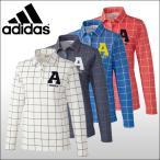 【60%OFF クリアランスセール】 アディダスゴルフ (adidas) JP adicross ウインドウペンチェック 長袖ポロシャツ レディース