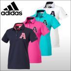 【50%OFFセール】 アディダスゴルフ (adidas Golf) JP SP Aロゴカノコ 半袖 ポロシャツ レディース 2016春夏/2016SS_SALE