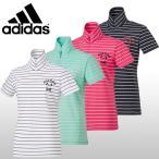 【50%OFFセール】 アディダスゴルフ (adidas Golf) JP SP ボーダー モックネック ハーフジップシャツ レディース 2016春夏/2016SS_SALE