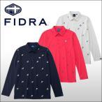 【60%OFF クリアランスセール】 フィドラ(FIDRA) 総柄プリント 長袖ポロシャツ メンズ