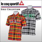 ルコックゴルフ(Le coq sportif) マドラスチェック半袖ニットシャツ メンズ
