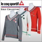 ショッピングセーター 【60%OFF クリアランスセール】 ルコックゴルフ(Le coq sportif) Vネックセーター レディース