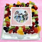 生クリームケーキ バースデーケーキ お誕生日 パーティー 記念日 サプライズ(四角)5号