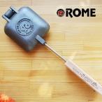ホットサンドメーカー フライパン 直火&IH対応  ROME ローム square jaffle iron スクエアパイアイロン 鉄 1枚用 クッカー キャンプ アイアン PIE IRON