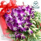 洋蘭:デンファレとグリーンの花束 お祝い お供え 誕生日
