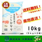 コシヒカリ 10kg 福島県産 お米 米 白米 平成28年度産 送料無料 福島県中通り産コシヒカリ10kg白米