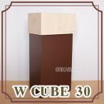 【九州限定送料無料】W CUBE 30 ダブルキューブ30 ゴミ箱 ごみ箱 ダストボックス シンプル ポップ 四角 卓上 大型 袋 木製 日本製 国産 yk15-011