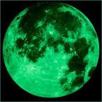 ウォールステッカー 蓄光(日本語説明書付) 月 ムーン moon 直径30cm 光る 月 星 子供部屋に最適