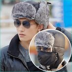 krosta 3way防寒ファー帽子 (耳あて / マスク付き) 男女兼用 フリーサイズ  /  スキー スノーボード バイク 自転車 防寒 キャップ ニット帽