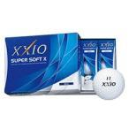 ショッピングゼクシオ ダンロップ ゼクシオ SUPER SOFT X(スーパーソフトX) 2017 ホワイト ゴルフボール 1ダース