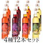 フルーツビネガー飲むおいしい酢ザクロ・ブルーベリー・アセロラ・白ぶどう12本セット 果実酢