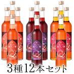 フルーツビネガー飲むおいしい酢ザクロ・ブルーベリー・アセロラ・3種12本セット 果実酢