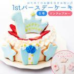 ファーストバースデー ケーキ 5号 15cm 4〜6人分 1歳 誕生日 デコレーションケーキ 誕生日ケーキ バースデー アイシングクッキー 男の子 女の子 スマッシュ