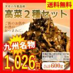 【送料無料】大分県産高菜漬4種セット 各種1袋ずつ 中津漬物