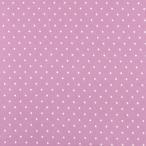 生地 水玉スムースプリント(142-1470) A10.紫×白 (b)k3