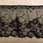 ラッセルフリルレース(60003) 約15cm幅 18.黒 (b)4b