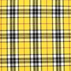 生地 テッキングタータン(18-0611) 23.黄色×赤ライン (b)k1