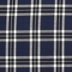生地 テッキングタータン(18-0611) 25.紺×緑ライン (b)k1