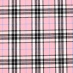 生地 テッキングタータン(18-0611) 31.薄いピンク×水色ライン (b)k1