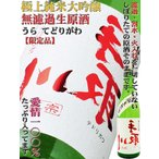 日本酒 極上 純米大吟醸 無濾過 生原酒 裏 手取川 720ml  うら てどりがわ 愛情100%!