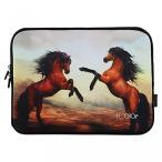 """ラップトップ・タブレットPCケース  Horses iColor 9.7""""-10.2"""" Tablet Laptop Neoprene Sleeve Case Bag Cover for iPad Air, Kindle Fire HD 10, PolaTab"""