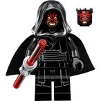 【送料無料】ブリックス アンド モア LEGO Star Wars Sith Minifigure - Darth Maul Evil Smile with Horns, Hood, and Lightsaber