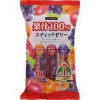 リボン 果汁100%スティックゼリー 18本×12袋