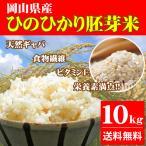 令和2年産 新米 10kg ひのひかり胚芽米 岡山県産 (5kg×2袋) お米 送料無料
