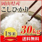 ショッピング安い ☆29年岡山県産コシヒカリ 玄米30kg 白米27kg