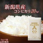 訳あり お米 20kg 新潟県産コシヒカリ 令和元年産 (5kg×4袋) 送料無料