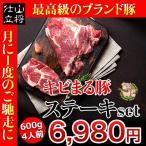 厚切り ステーキ 赤身 肉 赤身肉 豚肉 国産 600g 沖縄 お取り寄せ グルメ ギフト