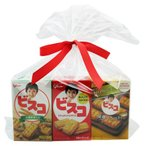 お菓子 詰め合わせ おかしのマーチ グリコ ビスコ食べ比べセット(3種×4コ)12コ入り ラッピングver (omtma5335)