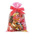 お菓子 詰め合わせ (地域限定送料無料) 食べきりチョコっとサイズ個包装タイプ チョコレート・駄菓子セット(計28コ) 花柄ラッピングA クール便 (omtma6303kk)