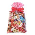 お菓子 詰め合わせ (地域限定送料無料) 食べきりチョコっとサイズ個包装タイプ チョコレート・駄菓子セット(計69コ) 花柄ラッピングB クール便 (omtma6307kk)