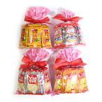 お菓子 詰め合わせ  (地域限定送料無料) 人気の亀田製菓のミニせんべい花柄ラッピングセット 4種セット おかしのマーチ (omtma6377k)