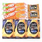 詰合せ (全国送料無料) スモーキープリッツ<燻製チーズ>【3コ】&ビッグカツ【3コ】&クラッシュラーメン【2コ】セット おかしのマーチ メール便 (omtmb6305)