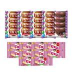 (全国送料無料) グリコ ビスコミニパック〈いちご〉(10コ)& バランスオンminiケーキ チョコブラウニー(16コ)セット おかしのマーチ メール便 (omtmb6435)