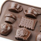 チョコレート型 シリコンモールド TEA TIME(ティータイム) チョコ型 バレンタイン