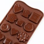 チョコレート型 シリコンモールド Choco Buttons(チョコボタン)SCG029 チョコ型