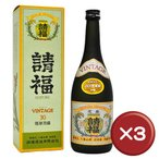 ポイント15倍 泡盛 請福ビンテージ 30度 3年古酒 4合瓶(720ml) 3箱セット